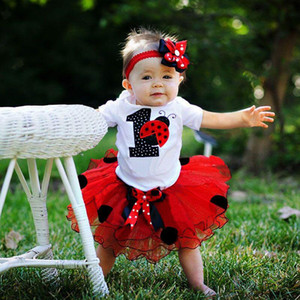 Baby Girls 12 Months Birthday Party Dress New Year 1st Christening Gown Newborn Infantil Tutu Outfit Red First Christmas Clothes