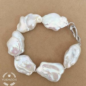 100% NATURE FRESHWATER Baroque PEARL BRACELET-good quality-BIG BAROQUE pearl BRACELET SH190925