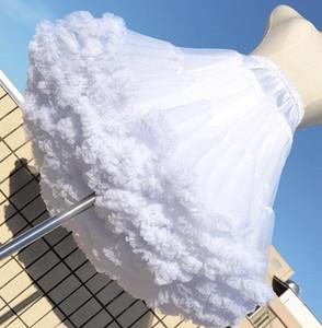 New White Short Women Tulle Halloween Petticoat Vintage Sweet Wedding Bridal Petticoat Lolita 45CM Cut Kawaii Girl