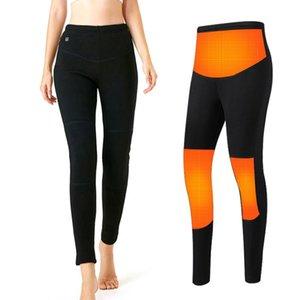 На открытом воздухе зима теплые нагретые брюки мужчины женщины моющиеся USB электрические нагревательные брюки термическое белье 3 уровня температура дна