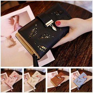 2020 New Women Lady Clutch PU Leather Leaf Wallet Long Card Holder Phone Case Purse Handbag Hot