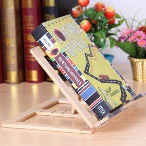 Supporto per libri in legno Stand Regolabile Bookstands Portatile Bookstands Laptop Tablet Studio Cook Recipe Books Stands Desk Cassetto Organizzatori CYF4581