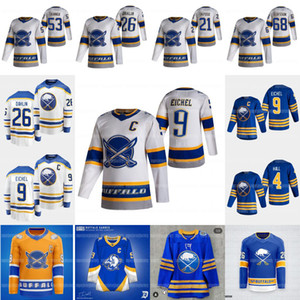 9 Jack Eichel Buffalo Sabers 2021 Reverse Retro Taylor Hall Rasmus Dahlin Jeff Skinner Victor Olofsson Jake McCabe Eric Staal Okposo Jersey