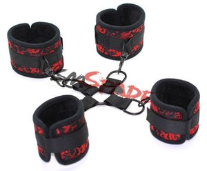 Smspade Floral Cloth Bondage Underbed Bedroom Restraint cuffs With Cross Buckle Hog Tie Kit Role Play New Y201118