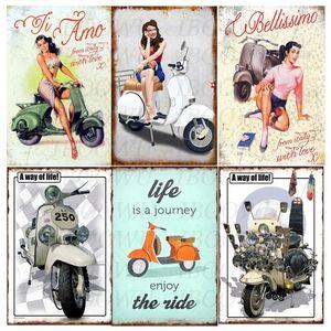 2021 Vintage Motorcycle Metal Lata Placa Retro Sinais Placa Retro Garagem Moto Sinal De Metal Decoração Da Parede Para A Parede Da Garagem Placa De Metal Decorativa