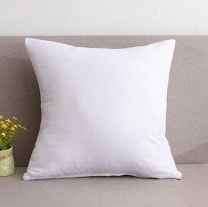 Sublimation Blanks Home Divano Throw Pillowcase Colore Pure Poliestere Cuscino Copertura cuscino Cuscino Decor Pillow Case Blank Decor di Natale regalo