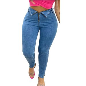 Cm. Yaya rits Tail Patatas Slit Zoom Denim Women Jeans Streetwear Skinny High Taille Lady Broek