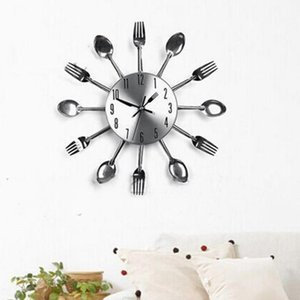 Tools Fork Clock Steel Knife Decoration Spoon Wall Restaurant Stainless Kitchen Home Clocks Multifunctional Wall Rbbvg