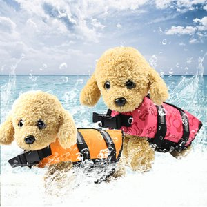 Pet coat Polyester Multicolor Windproof waterproof Dog swimsuit Safety Comfortable Casual fashion Dog life jacket Factory direct sales
