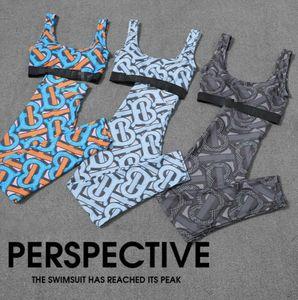Donne Bra Tracksuit Senza maniche Vest Vest + Pantaloni Legging 2 pezzi Set Abiti estivi Etws3 fitness palestra Abbigliamento sportivo