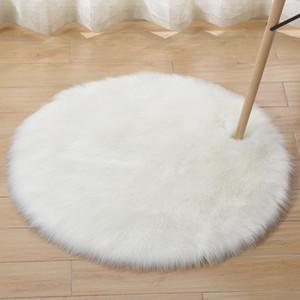 Size 30-120cm 16 Colors Australia Imitate Wool White Round Carpet For Home Living Room Children 5cm Long Hair Bedroom Rug
