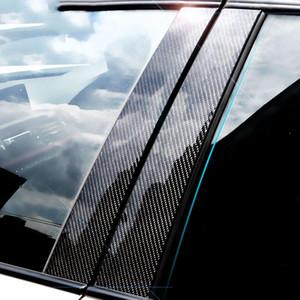 Autoadesivo decorativo della finestra della finestra della fibra di carbonio E71 F25 E46 E60 E90 F30 F10 F20 F16 F07 E70 E70 E46 Auto Styling Decal Sticker