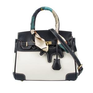 2020 new lychee pattern platinum bag hit color platinum bag fashion all-match Kelly bag casual shoulder messenger handbag female large capac