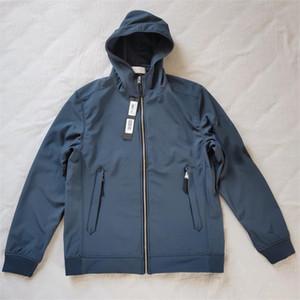 نوعية جيدة # 40927 أزياء الخريف الشتاء ملابس خارجية جاكيتات ضوء لينة شل-ص سترة مصمم رجالي سترة الأزياء سترة