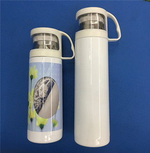 20oz Sublimation Tumbler 500ml Stainless Steel Vacuum Insulated Water Mugs DIY Blank Sublimation Bottles Black White Lid