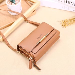 Women Leather Messenger Bags Clutch Mini Crossbody Shoulder Female Large Capacity Phone Bag Ladies Purse With Zipper A111410 Q1119