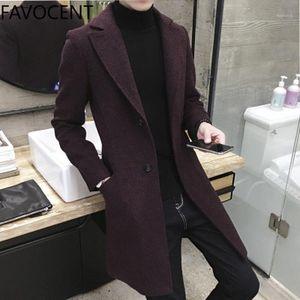 Men Coats Casual Long Top Mens Thick Wool Trench Fashion Warm Coat Lapel Spring Autumn Overcoat Plus Size 5XL Long Coat1