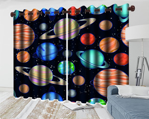 3d Curtain Design for Bedroom Wonderful Space Planet 3d Curtain Living Room Bedroom Kitchen Window Blackout Curtains