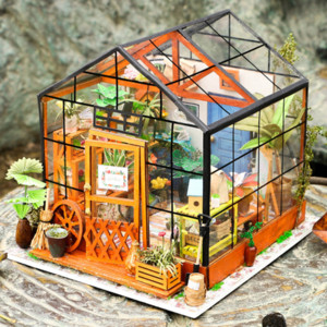 DIY Art Museum 3D 3D hand-in-hand building model Casey flower house girl gift toys