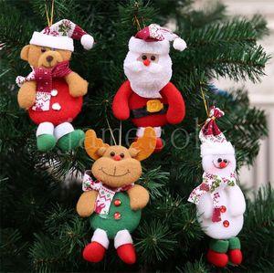 Christmas Tree Ornament Hanging Ornament Santa Claus Snowman Elk Bear Christmas Pendant Decoration Home Xmas Party Decorations DB317