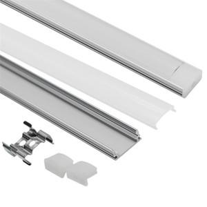 10 12 15 18 20 50pcs DHL 1m LED strip aluminum profile for 5050 5630 LED disco strip LED bar light aluminum channel with cover Q1121