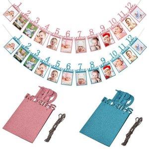 1st عيد إطار الصورة 1-12 أشهر الطفل إطار الصورة الطفل غرفة الاستحمام ديكورات حامل الاطفال هدية عيد