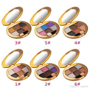 6 colores sombra de ojos brillo sombra de ojos Diamante brillante colorido paleta de maquillaje profesional cosmético fiesta mascarada herramientas de belleza dhl barco
