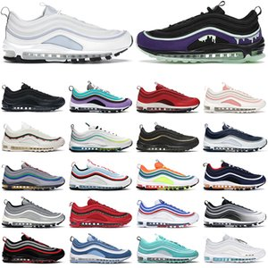 max 97 shoes scarpe da corsa da donna da uomo Halloween Ghost Triple bianco nero University Red USA allevate in oro metallizzato da uomo per sport all'aria aperta