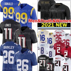 99 Aaron Donald Jersey 16 Jared Goff 26 Saquon Barkley 11 Julio Jones 21 Todd Gurley II Daniel Jones Matt Ryan Deion Sanders