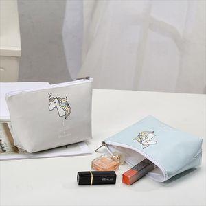 Unicorn Cosmetic Bag Large Capacity Ladies Makeup Bag Organizer For Women Toiletry Travel Kits Beautician Storage Bags