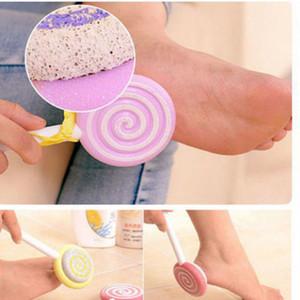 Fichier de pied de la pédicure de haute qualité Scrattoir Scrubber Mignon Lollipop Style Râte Pumice Pierre Foot Callus Tool de soin des pieds