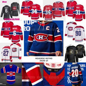 Montreal Canadiens 2021 Reverse Jersey retro Josh Anderson Carey Precio Shea Weber Jonathan Drouin Jesperi Kotkaniemi Nick Suzuki