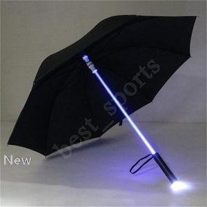 Cool Blade Runner Light Sabre LED Flash Light Paraguas Rose Umbrella Night Walkers Linterna Botella Umbrella Zza1395