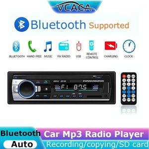 VCACA بلوتوث راديو سيارة تسجيل / نسخ FM handsfree aux dc12v tf بطاقة لاعب الوقت عرض ستيريو سيارة mp3 راديو player1