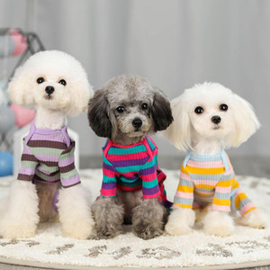 Winter Cotton Dog Pajamas Pjs Soft Fleece Pet Clothes for Small Dogs Cats Puppy Jumpsuit Overalls Suit Doggy Apparel 20A