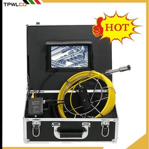 Pipe Wall Sewer Inspection Camera System,7inch 23mm Industrial Pipeline Drain Endoscope Video Camera with 12leds