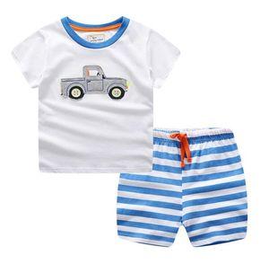 Boy Kids Sets Kids T-shirt And Pant Children Cotton Sets Baby Boys Girls 3-9 years Summer Suit Baby Sport Suit 2Pcs Set