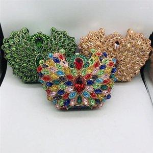 Вечерние сумки Последнее дизайн ослепительные женщины кристалл металлические муфты элегантные свадьбы кошельки и сумочки1