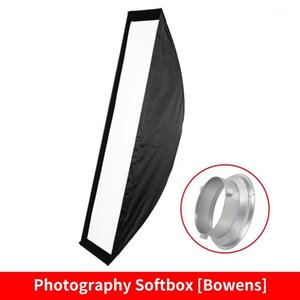 "FOTOCREAT 14""×63""(35×160cm) Quick Folding Bowens Mount Strip Softbox with Honeycomb Grid for Studio Flash Speedlite1"