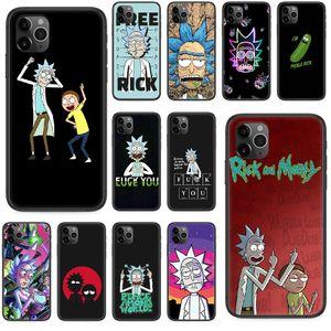 rick Cartoon morty Phone case For iphone 4 4s 5 5S SE 5C 6 6S 7 8 plus X XS XR 11 PRO MAX 2020 black Etui silicone funda