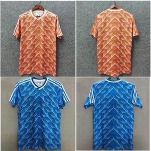 Top 1988 Netherlands Retro soccer jersey VAN BASTEN football shirt GULLIT jerseys Away Blue Classic maillot de foot
