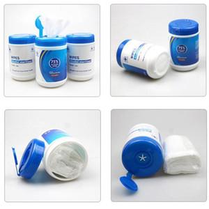 60pcs / barril álcool descartáveis molhado molhado mão mão limpeza pele esterilização álcool algodão desinfetando lisol ewf3399