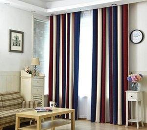 ستارة Stripe Blackout لستائر غرفة المعيشة لنبة غرفة النوم الحديثة الستائر الفوال تول شامل