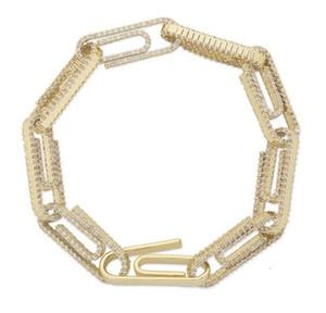 Panneau Café Bean Lock fermoir Link 7-8 pouces Bracelet Ifed Out Zircon Bling Hip Hop Hop Hommes Hommes Bijoux Cadeau Charms Charms Bracelets