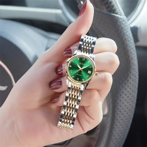 OLEVS Mujeres Relojes Mecánica de lujo pulsera reloj de pulsera elegante señoras reloj automático reloj relogio feminino 201217