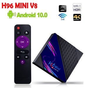 H96 MINI V8 Android 10.0 TV Box RK3228A 1G 8G 2G 16G Media Player 2.4G WiFi 100M VS x96q x96 max plus