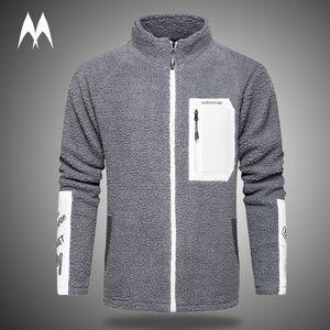 Patchwork Zipper Sweatshirt Men 2020 Brand New Fleece Hoodie Mens Wool Jacket Winter Thick Warm Hoodies Streetwear Men Clothing Z1211