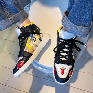 Unisex Naruto Anime Anime Casual Hip Hop Fashion Clunky Sneakers per gli uomini Vulcanize Scarpe Sasuke Kakashi Cosplay C1120