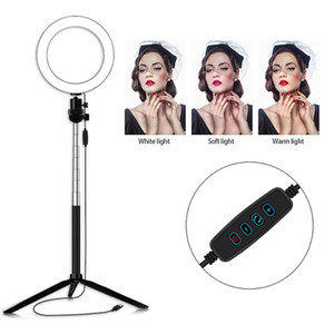 6inch LED Ring Light Photo Studio Camera Light Photography Dimmable Video light for Youtube Makeup Selfie with Tripod Phone Holder