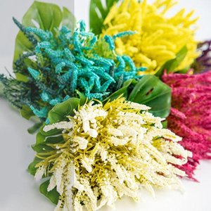Mini PE Lavender Artificial Flowers for Wedding Home Decoration DIY Craft Gift Bride Wreath Scrapbooking Fake Flower branch
